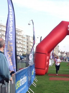 Jo at the finish line!