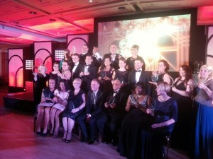 Nicolas with fellow award winners at the British Care Awards.